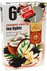 Čajové svíčky 6 kusů –  Kokos a vanilka