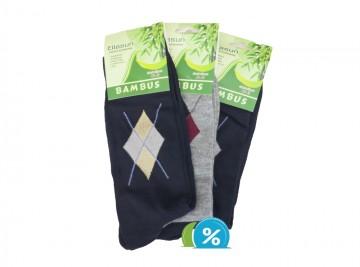 Pánské klasické bambusové ponožky Ellasun ZM1622 - 3 páry, velikost 43-46