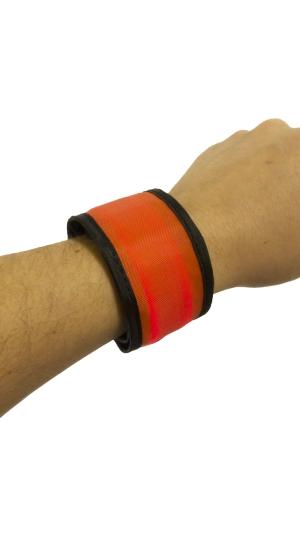 Svítící reflexní náramek, 35 cm - červený