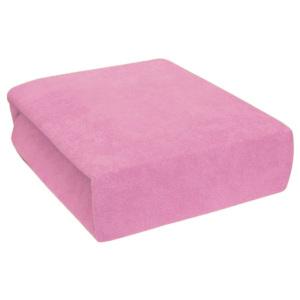 Cearșaf plușat 90x200 cm - roz