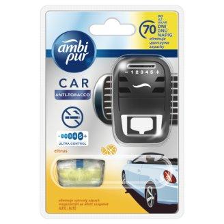 Ambi Pur CAR3 - osvěžovač do auta, Citrus - Antitabák - strojek s náplní 7ml