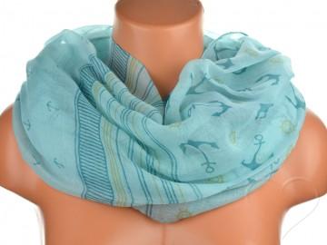 Jednobarevný letní šátek - zelený