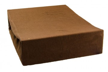 Jersey lepedő 220x200 cm - sötétbarna
