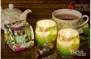 Vonná svíčka ve skle - zelený čaj s verbenou, 100g