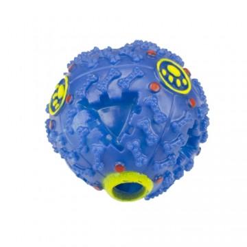 Pískací míček pro pejsky - modrý