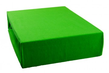 Cearșaf jersey 90x200 cm - verde mazăre