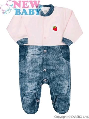 Kojenecký overal New Baby Dark Jeansbaby růžový