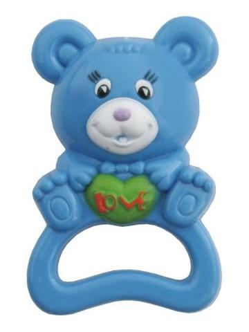 Detské hrkálka Baby Mix medveď modrý