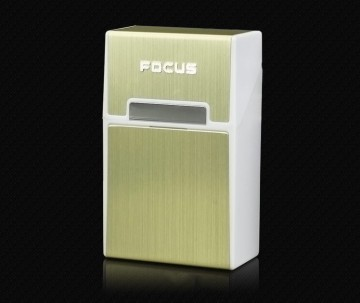 Focus cigarettatartó doboz mágnessel  - arany