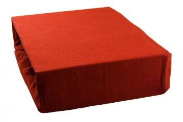Jersey lepedő 160x200 cm - téglavörös