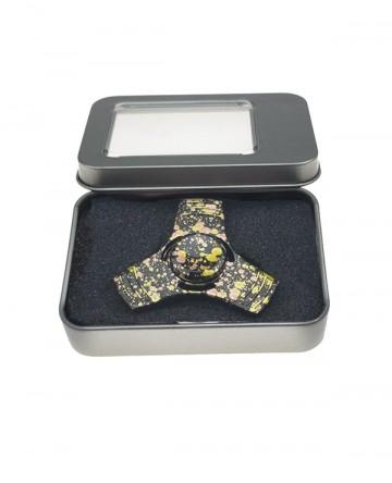 Fidget spinner - din metal, în cutie cadou - colorat [9078]