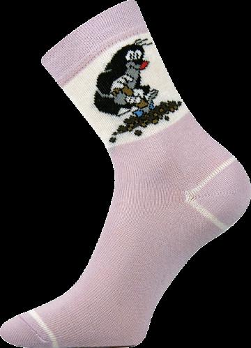 Ponožky - krteček - fialová velikost 30-34