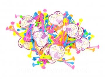 Hajgumi mix szín - virágok 4 db
