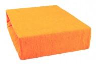 Prostěradlo froté 140x200 cm - pomeranč