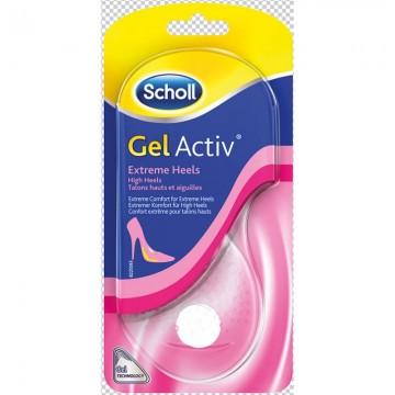 Scholl GelActiv - Gelové vložky do bot s extrémně vysokými podpadky, 1 pár, velikost 35-40,5