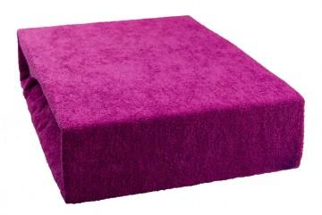 Prostěradlo froté 180x200 cm - světle fialové