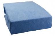 Prostěradlo froté 160x200 cm - světle modré