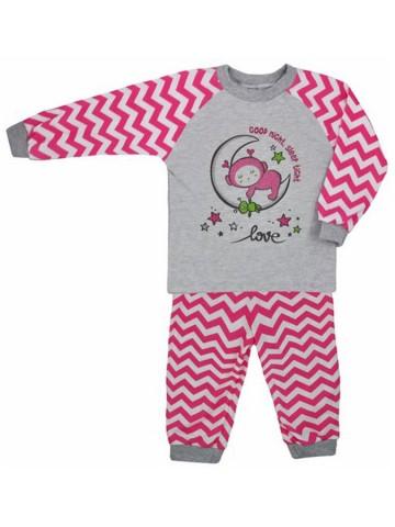 Dětské bavlněné pyžamo Koala Cik-Cak růžové