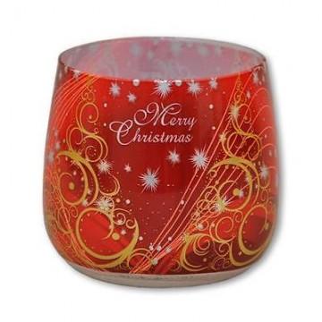 Illatos gyertya üvegben - karácsonyi pillanat Alma és fahéj, 100g