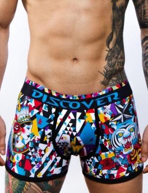 Pánské boxerky Discover Old School Boxer, Velikost oblečení M