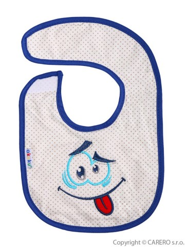 Dětský bryndák Akuku modrý s úsměvem