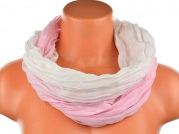 Dámský tunelový šátek v odstínech jedné barvy - světle růžový