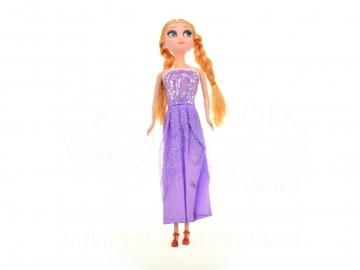 Baba lila ruhában - 29cm
