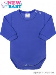 Csecsemő hosszú ujjú body New Baby kék