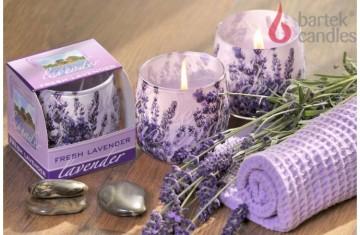 Vonná svíčka ve skle - Přírodní levandule, 100g