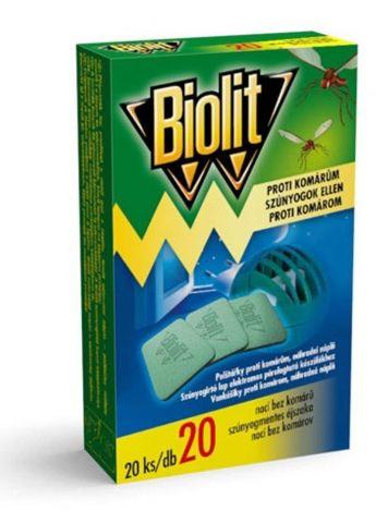 Biolit - náhradní náplň do elektrického odpařovače, polštářky, 20ks