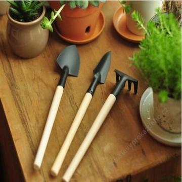 Sada mini zahradního nářadí do truhlíku a květináče