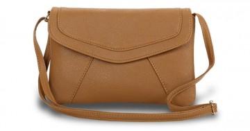 Módní mini kabelka přes rameno i do ruky - hnědá