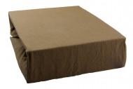 Jersey lepedő 160x200 cm - világosbarna