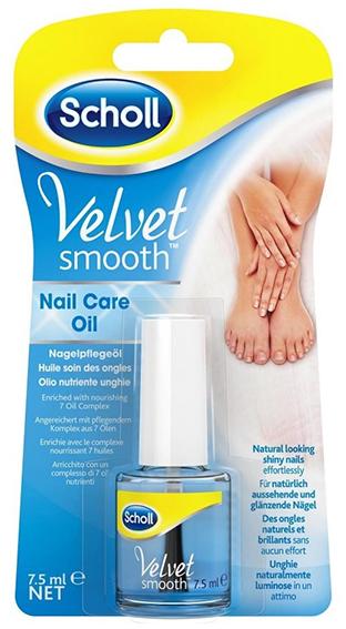 Scholl Velvet Smooth - olej na nehty, modrý, 7,5 ml