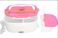 Ohřívací box na obědy MLY-669 s napájením 220V, růžový