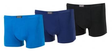 Bambusové boxerky - jednobarevné - 3 ks, velikost 4XL
