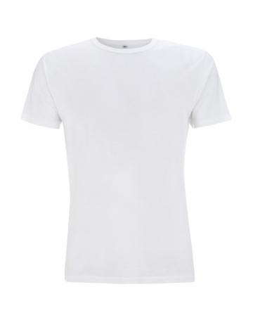 Pánské bambusové tričko, klasický střih - bílá, 1 ks - velikost L