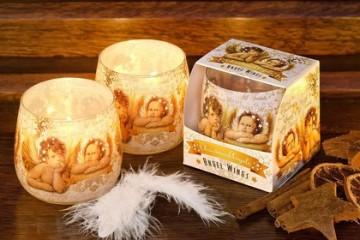 Vonná svíčka ve skle – Vánoční andílci, 100g