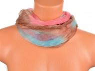 Batikolt körkendő - kék rózsaszín barna