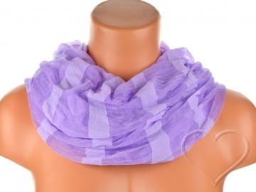 Eșarfă tunel pentru femei - violet