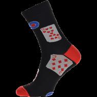 Ponožky Karty - 1 pár, velikost 43-46