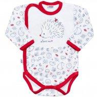 Kojenecké celorozepínací body New Baby Hedgehog červené