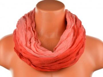 Dámský tunelový šátek v odstínech jedné barvy - červený