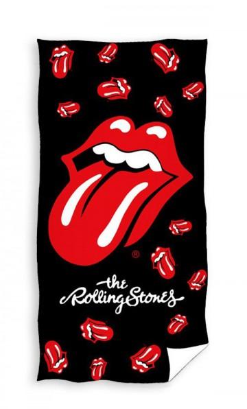 Plážová osuška Rolling Stones black 70/140 cm