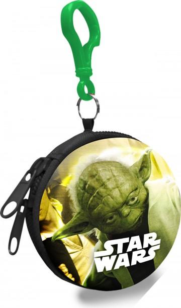 Dětská kovová peněženka s karabinou Star Wars Yoda