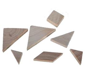 Dřevěný mini hlavolam [7053]