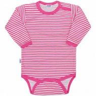 Kojenecké body New Baby Classic II, s růžovými pruhy