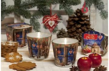 Vonná svíčka ve skle – Kouzlo vánoc pečené jablko, 115g