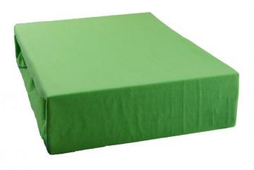 Prostěradlo jersey 90x200 cm - světle zelené