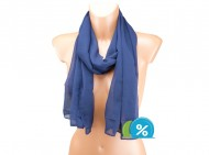 Letní šátek jednobarevný - tmavě modrý